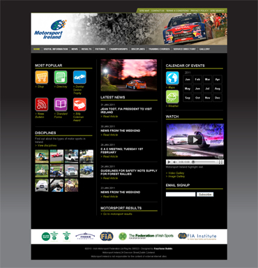 Motorsport Ireland Website